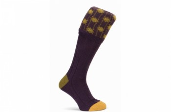 calcetines-de-caza-berenjena-lana